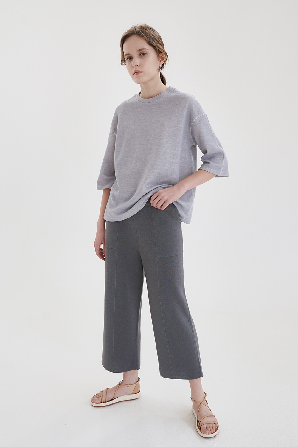 2 pockets knit pant