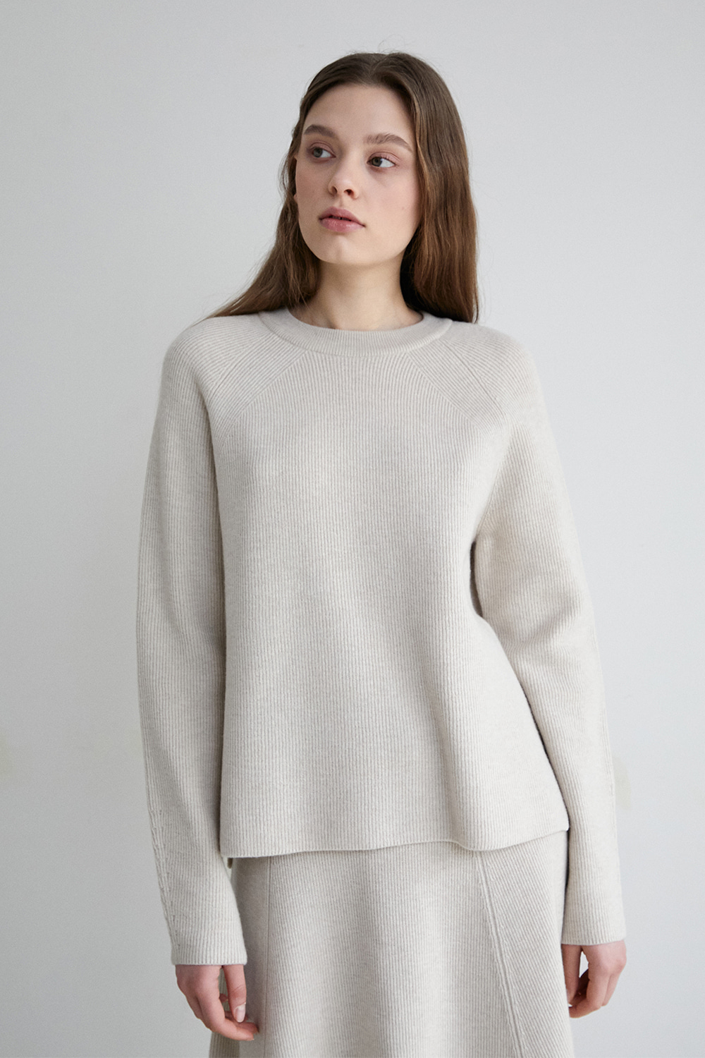 [cotton beige] Vague pullover