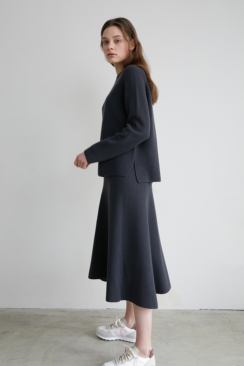 [deep charcoal] Nouvelle skirt