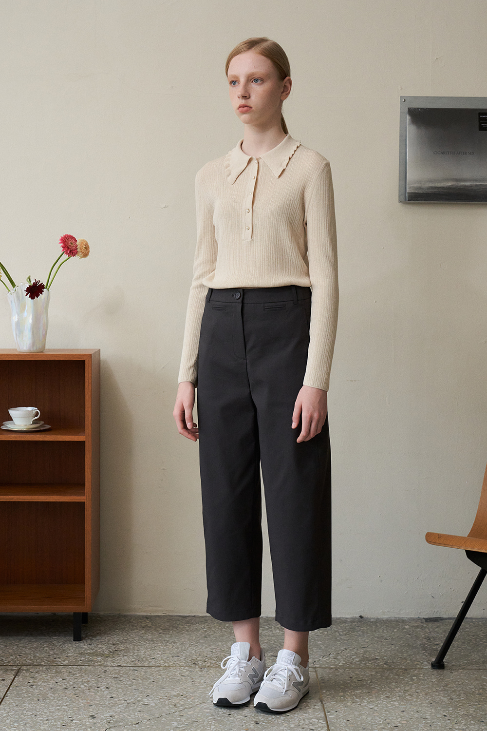 [Charcoal]Aesthetic value pants
